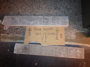 vloer niet op lopen